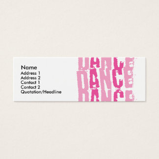 Cartão De Visitas Mini Dance3, nome, endereço 1, endereço 2, contato 1,…