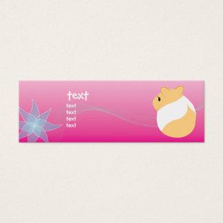Cartão De Visitas Mini Das flores e dos hamster