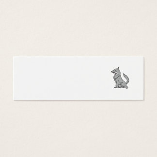 Cartão De Visitas Mini Desenho de assento da flor do Plumeria do lobo de
