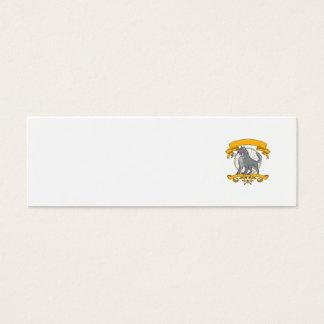 Cartão De Visitas Mini Desenho de Dreamcatcher da flor do Plumeria do