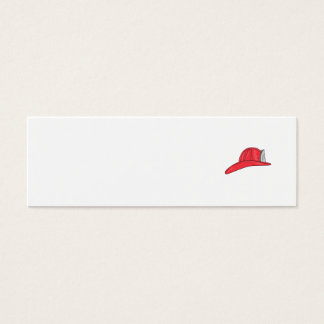 Cartão De Visitas Mini Desenho do capacete do sapador-bombeiro do