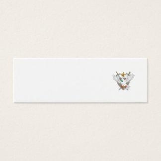 Cartão De Visitas Mini Desenho verde-oliva da crista da flor de lis da