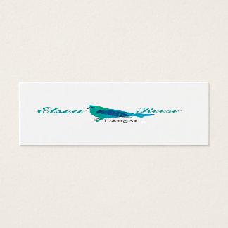 Cartão De Visitas Mini Design azul bonito personalizado da ilustração do