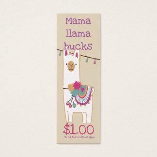 Cartão De Visitas Mini Design dos fanfarrões do lama do Mama