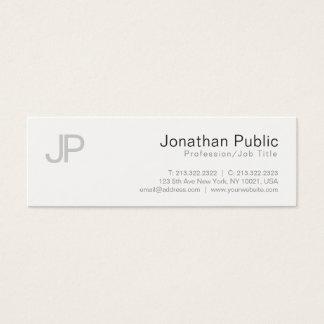Cartão De Visitas Mini Design moderno elegante liso Monogrammed lustroso