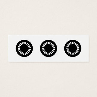 Cartão De Visitas Mini Design redondo elegante preto. Estilo do art deco