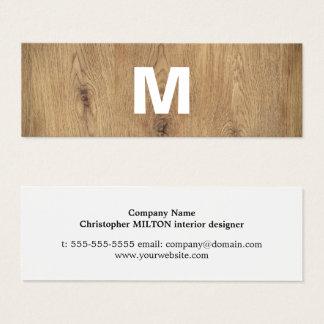 Cartão De Visitas Mini Designer de interiores corajoso de madeira moderno
