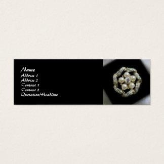 Cartão De Visitas Mini Diamantes e pérolas