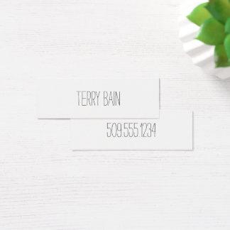 Cartão De Visitas Mini Dianteiro Center mínimo simples e traseiro finos