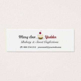Cartão De Visitas Mini Doces bonito do padeiro dos cupcakes da padaria