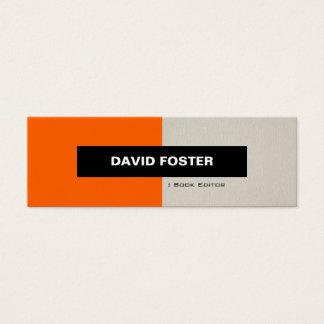 Cartão De Visitas Mini Editor do livro - na moda elegante simples