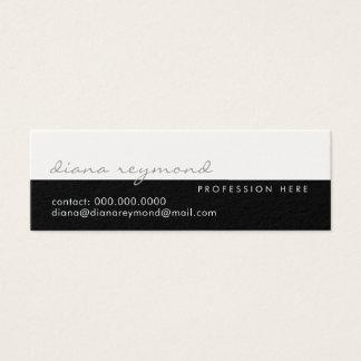 Cartão De Visitas Mini elegante moderno, profissional metade-branco