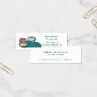Cartão De Visitas Mini Encanamento da chave de tubulação do canalizador