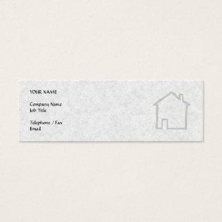 Cartão De Visitas Mini Esboço da casa. Cinzento