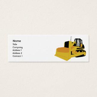 Cartão De Visitas Mini Escavadora - magro