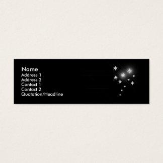 Cartão De Visitas Mini Estrelas de prata - magros