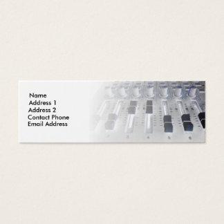 Cartão De Visitas Mini Estúdio do misturador que grava o engenheiro sadio