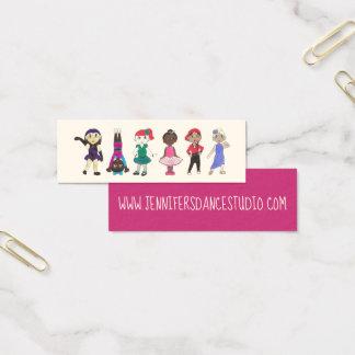 Cartão De Visitas Mini Estúdio lírico da dança de Hiphop Acro do jazz da
