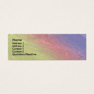 Cartão De Visitas Mini Fantasia do arco-íris