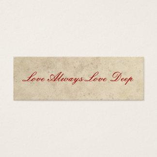 Cartão De Visitas Mini Favores do casamento - do amor amor sempre