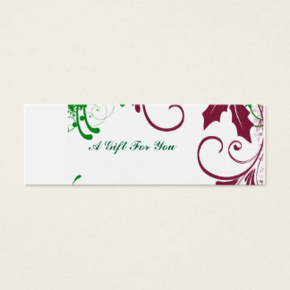 Cartão De Visitas Mini Feriado da inserção do presente