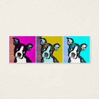 Cartão De Visitas Mini Filhote de cachorro do pop art