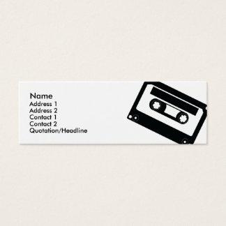 Cartão De Visitas Mini Fita - magro