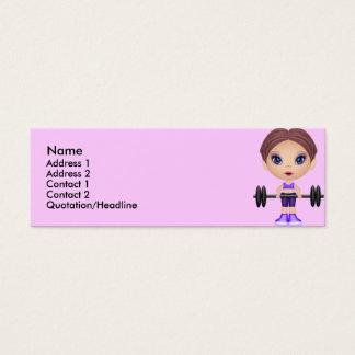 Cartão De Visitas Mini fitnessbuddie, nome,