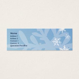 Cartão De Visitas Mini Flocos de neve - magros