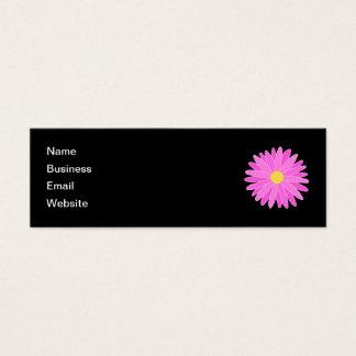 Cartão De Visitas Mini Flor cor-de-rosa brilhante