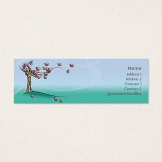 Cartão De Visitas Mini Flor - magro