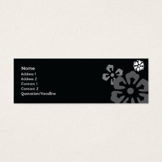 Cartão De Visitas Mini Flores - magros