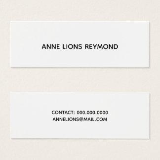 Cartão De Visitas Mini florescência de b/w elegante sem minimalista