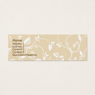 Cartão De Visitas Mini Folhas do bege - magros