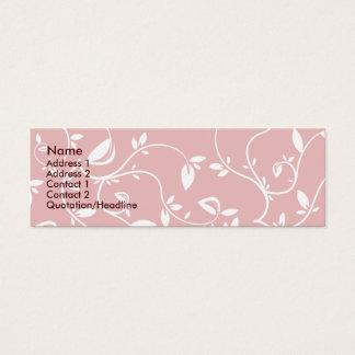 Cartão De Visitas Mini Folhas do rosa - magros