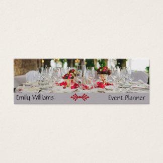 Cartão De Visitas Mini Fontes da restauração do organizador do casamento