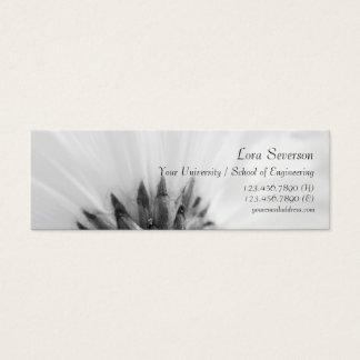 Cartão De Visitas Mini Formando preto e branco da margarida de Gerber