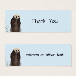 Cartão De Visitas Mini Foto bonito da natureza da cara da lontra