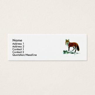 Cartão De Visitas Mini Fox vermelho magro