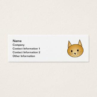 Cartão De Visitas Mini Gato. Kitty. bonito do gengibre