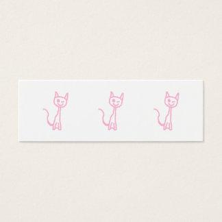 Cartão De Visitas Mini Gato rosa pálido, pisc