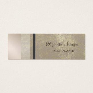 Cartão De Visitas Mini Geométrico profissional à moda moderno, listrado