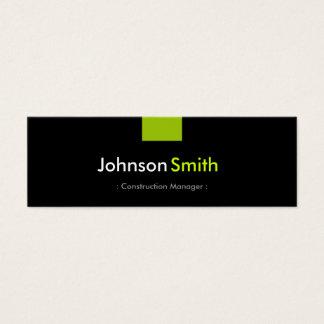 Cartão De Visitas Mini Gerente da construção - estojo compacto verde da