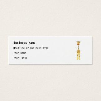 Cartão De Visitas Mini Girafa bonito alto. Animal dos desenhos animados
