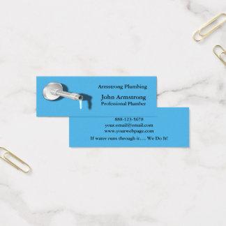 Cartão De Visitas Mini Gotejamento da água da tubulação do canalizador