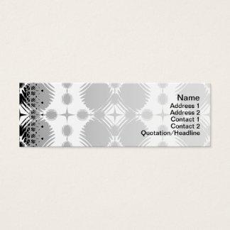 Cartão De Visitas Mini Grande preto e branco das ondinhas invertido