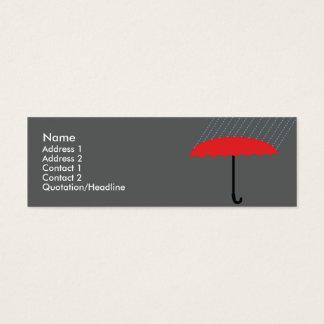 Cartão De Visitas Mini Guarda-chuva - magro