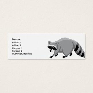 Cartão De Visitas Mini Guaxinim - magro