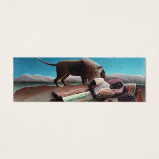 Cartão De Visitas Mini Henri Rousseau o vintage aciganado do sono