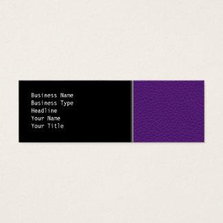 Cartão De Visitas Mini Imagem do couro roxo